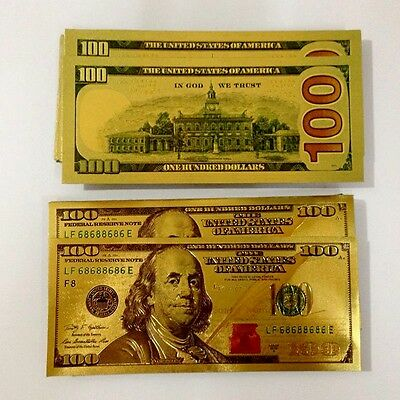 best price $100 BILL GOLD FOILED BANKNOTE MONEY VERY REALISM REALISTIC LOOKING