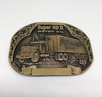 Phillips 66 Super HD II Motor Oil Belt Buckle