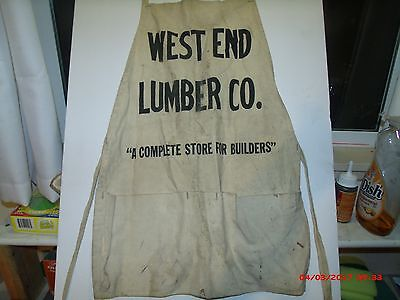 vintage canvas apron west end lumber Lumber Co.