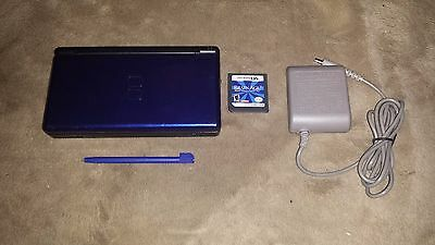 Cobalt (blue) Nintendo DS Lite system & Game Brain Age 2