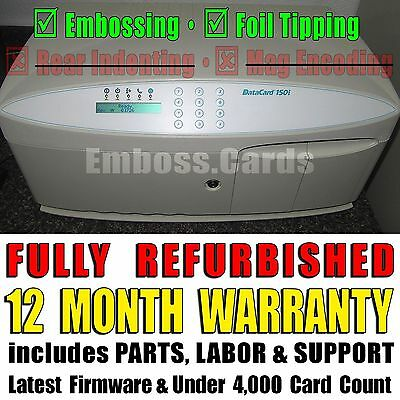 Datacard 150i ID Credit Card Embosser | Foil Topper | +1 YEAR WARRANTY