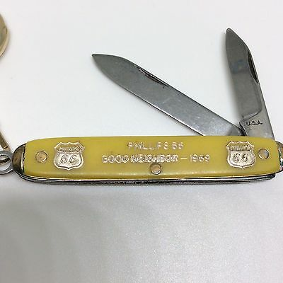 Phillips 66 Pocket Knife Key Chain