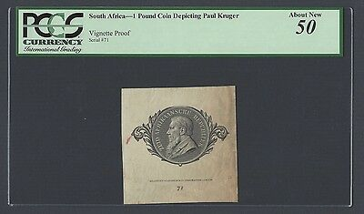 South Africa  One Pound Coin Depicting Paul Kruger Vignette Proof AUNC