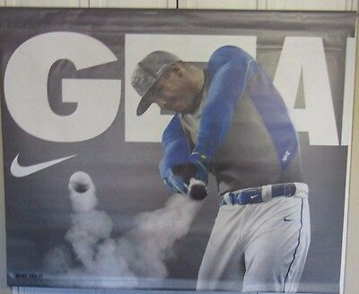 Mike Trout La Angels Nike Geared For Greatness Used 2 Part 47X39 Display Signs