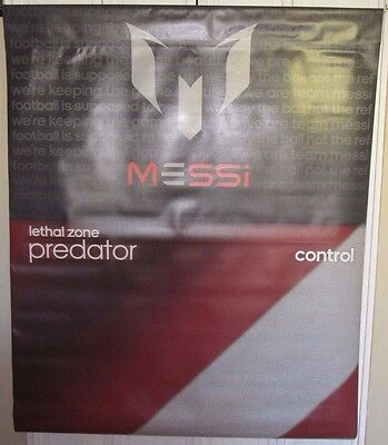 Adidas Messi Lethal Zone Predator Control Used 47X60 Display Sign