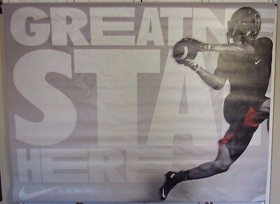 O'DELL BECKHAM JR. NY GIANTS NIKE GREATNESS STARTS HERE USED 2 PART 47X36 Each