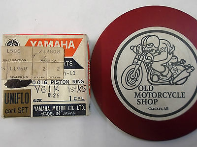 YAMAHA PISTON RINGS  180-11601-11   N.O.S. See details for fitment.