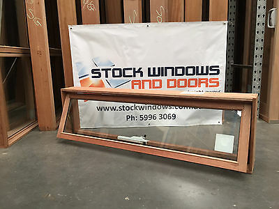 Timber Awning Window 450h x 1512w - DOUBLE GLAZED (SITTING IN STOCK)