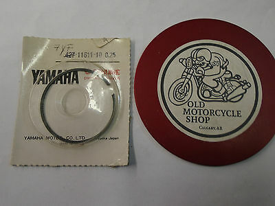 Yamaha Piston Rings Mx100 N.o.s. Part #7Yf-11611-10    0.25 O/s