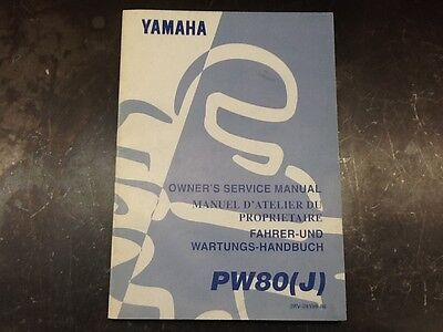 Yamaha 2000 PW80 Owners Service Manual 4ES-28199-87