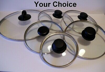 Replacement Glass & Stainless Steel Rim Lids 4 5 6 7 8 9 10 12 inch