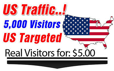 5000 USA Targeted Visitors to your Website Only $5 LOW BOUNCE Rate