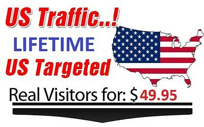 Lifetime USA Targeted Visitors to your Website LOW BOUNCE Rate