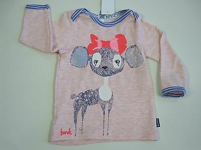 Bonds Baby Stretchies Long Sleeve Tee Top sizes 0 Colour Pink Print
