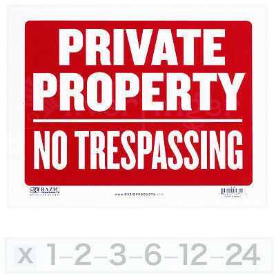 "PRIVATE PROPERTY • NO TRESPASSING Sign — 9x12"" Durable Weatherproof PVC Plastic"