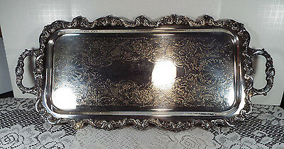 E.P.C.A. Old English Large Waiter Silver Plate Tray by Poole 5031