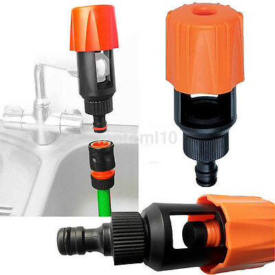 Universal Kitchen Mixer Tap To Garden Hose Pipe Connector Adapter In/Outdoor UK