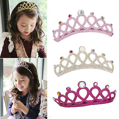 1pc Girls Kids Children Baby Elastic Princess Party Crown Tiara Hair Head Band