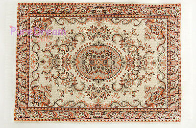 "1/12 Scale Dollhouse Miniature Embroidered Carpet Rug 6 1/3"" x 3 12/13""  #OR306"