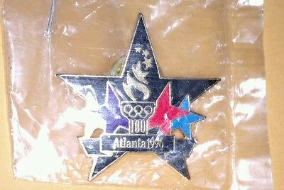 1996 Atlanta Olympics Star and Torch Pin New in Package NIP