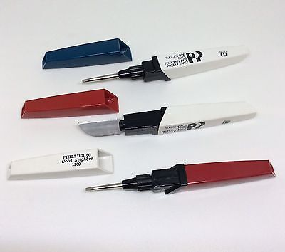 Phillips 66 Pocket Tools Small Flat Head Screwdrivers And Knife