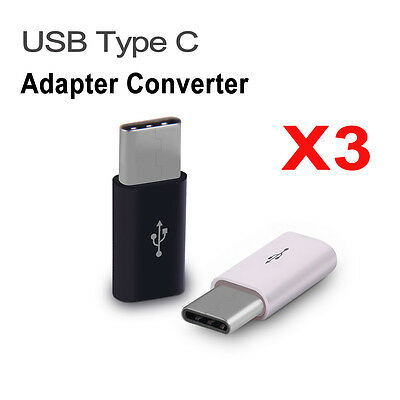 3PCS USB Type C Male Connector to Micro USB Female Converter USB-C Adapter