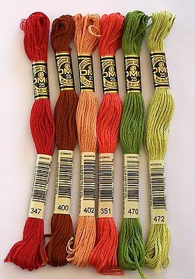 DMC EMBROIDERY THREADS - STRANDED COTTONS - CHOICE OF 347 351 400 402 470 or 472