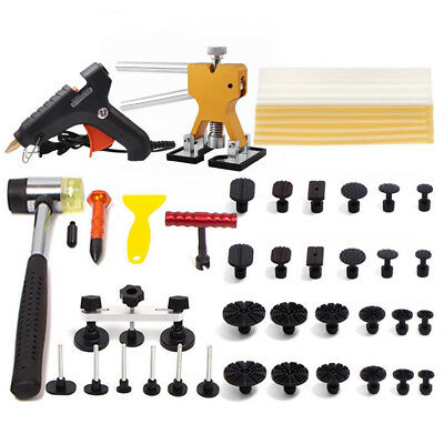 PDR Kit Paintless Puller Slide Hammer Repair Dent Lifter Hail Removal Rods Tools