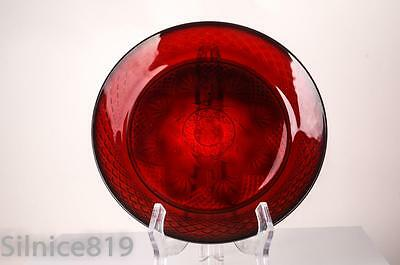 2 Cristal D'Arques Antique Ruby Red Durand Luminarc Arcoroc France Dinner Plates