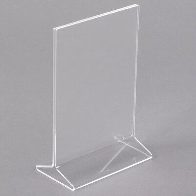 """Lot of 15 Crystal clear acrylic sign holder/table tent for display menu 4X6"""""""
