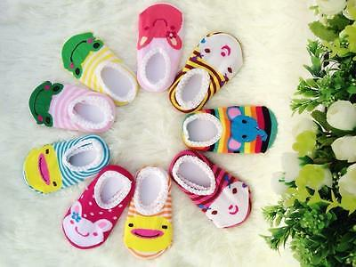 New Cute Non-Slip BABY Toddler SOCKS FOOT COVERS Boys and Girls 1 pairs WW