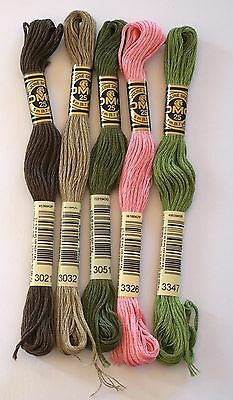 Dmc Embroidery Threads - Stranded Cottons - Choice Of 3021 3032 3051 3326 & 3347