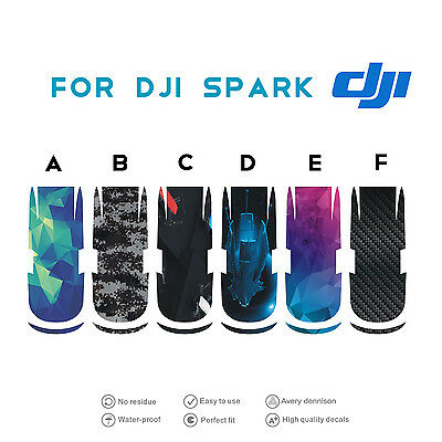 PCV Waterproof Stickers Decal Sticker Skin Protector For RC DJI Spark Drone Quad