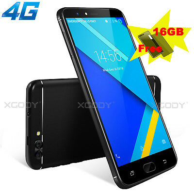 "5"" 4G LTE Android 7.0 Smartphone Quad Core XGODY Unlocked 16GB 2SIM Mobile phone"