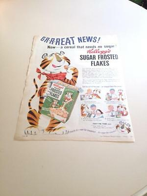 Vintage Kelloggs Frosted Flakes Advertisment Colour  1956