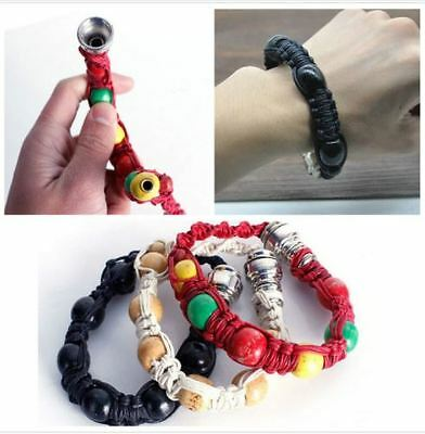 Portable Metal Bracelet Smoke Smoking Tobacco Pipe Jamaica Rasta