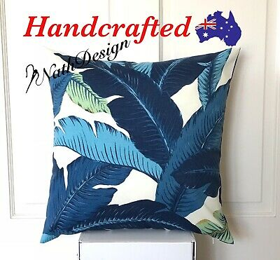 Genuine Tommy Bahama Outdoor Blue & White Swaying Palm Leaf 45cm Cushion Cover