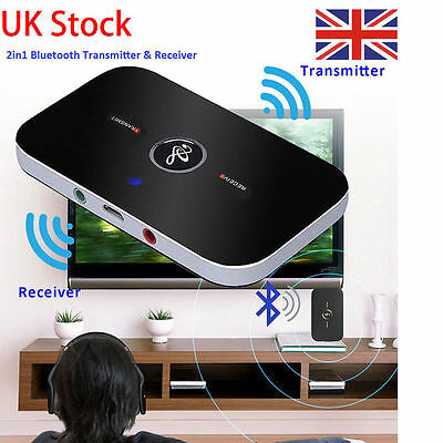 Bluetooth Wireless Audio Transmitter&Receiver 3.5mm Music 2in1 Adapter PC TV New