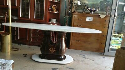 Big Table,buffa,parisi,ponti 50' Marble And Rosewood