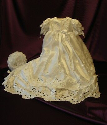 `LILY` Handmade 2 Tier Satin Christening Gown