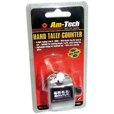 Chrome Metal Hand Tally Lap Knitting Row Golf Door Tally Number People Counter