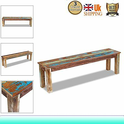 Solid Rustic Vintage Reclaimed Wood Furniture Dining Table Seating Bench Handmad