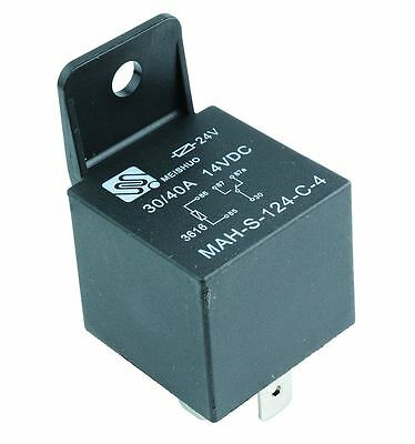 24V Automotive Changeover Relay 40A 5-Pin Bracket SPDT