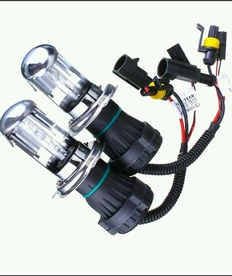 HID HIGH/LOW H4 HEADLIGHT GLOBES PAIR 35w 6000k FAST POST  AUS STOCK