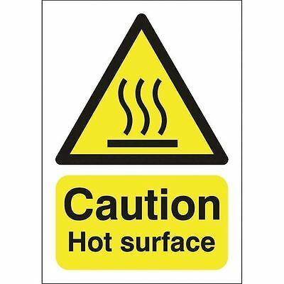 Safety Sign Caution Hot Surface A5 Self-Adhesive HA04151S [SR11207]