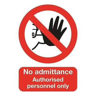 Safety Sign No Admittance Authorised Personnel Only A5 Self-Adhesive [SR11188]