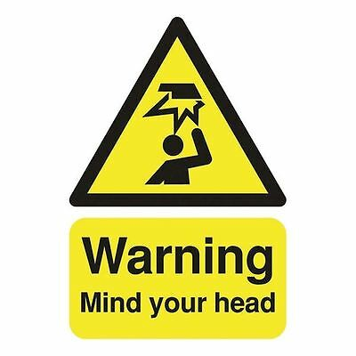 Safety Sign Warning Mind Your Head A5 Self-Adhesive HA25551S [SR11201]