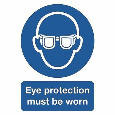 Safety Sign Eye Protection Must be Worn A4 PVC MA01250R [SR11231]