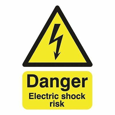 Safety Sign Danger Electric Shock Risk A5 Self-Adhesive HA10751S [SR11211]