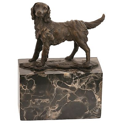 Bronze sculpture of dog spaniel dog figurines animal statue of marble artists Si